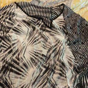 Black and white designed tunic